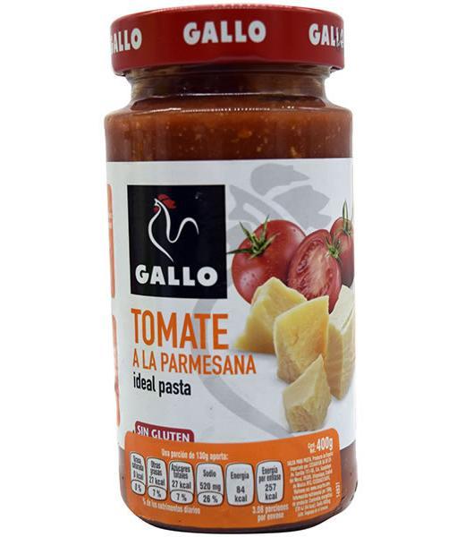 SALSA TOMATE PARMESANA 400 G GALLO