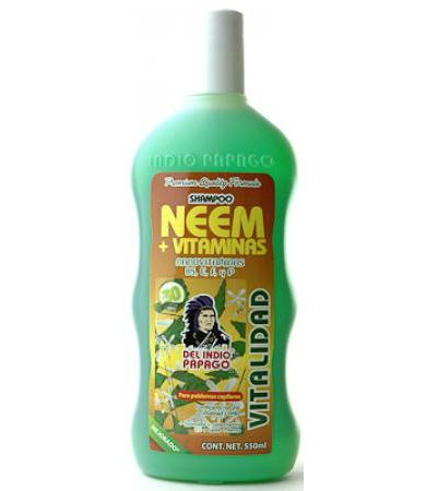 SHAMPOO NEEM+VITAMINAS INDIO PAPAGO 550 ML