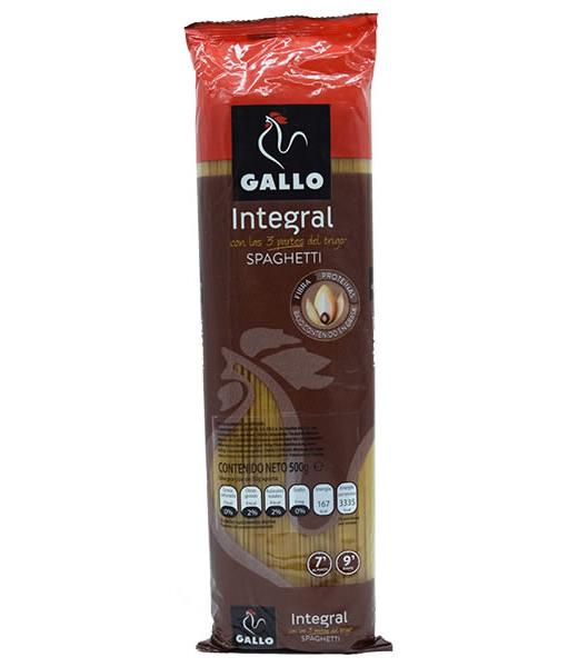 SPAGHETTI INTEGRAL 500 G GALLO