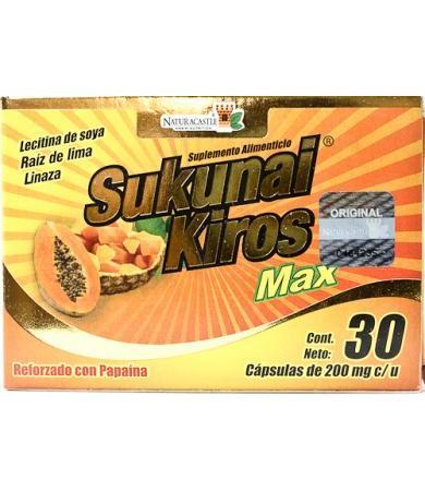 SUKUNAI KIROS MAX 30 CAPSULAS