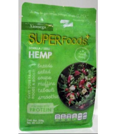 SUPERFOOD POUCH SEMILLA DE HEMP 250 G XIOMEGA