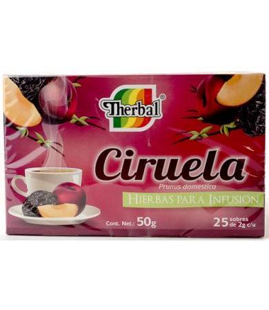 TE DE CIRUELA 25 SOBRES 2 G