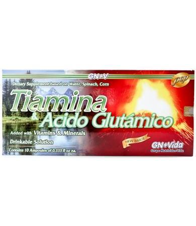 TIAMINA Y ACIDO GLUTAMICO  AMP 10 X 10 ML