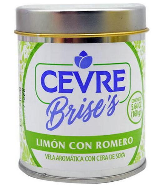 VELA AROMATICA LIMON CON ROMERO 160 G CEVRE BRISES